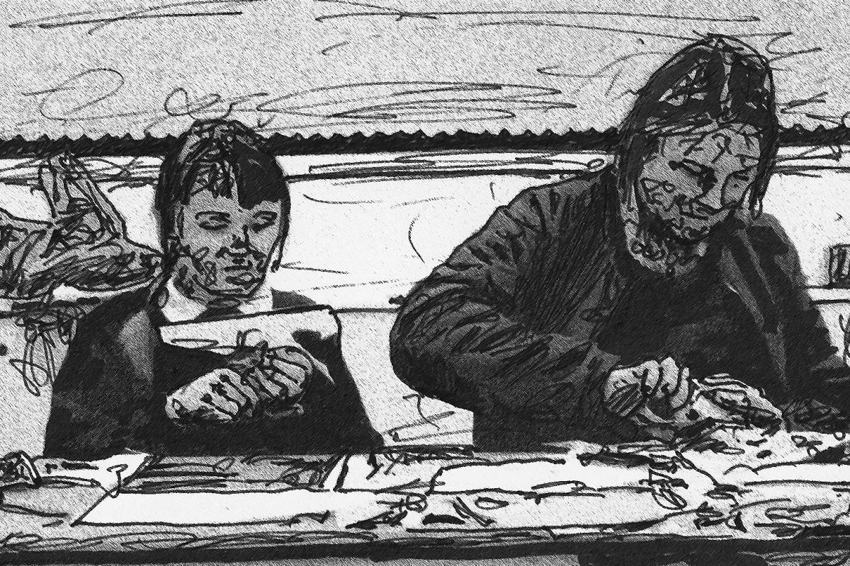 Arbeiten in der Zukunft / Zeichnung: Marcus Klug
